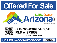 Custom Sell By Owner Arizona For Sale Sign